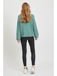 vibossa knit l/s funnel neck top tb 14053552 vila trui oil blue