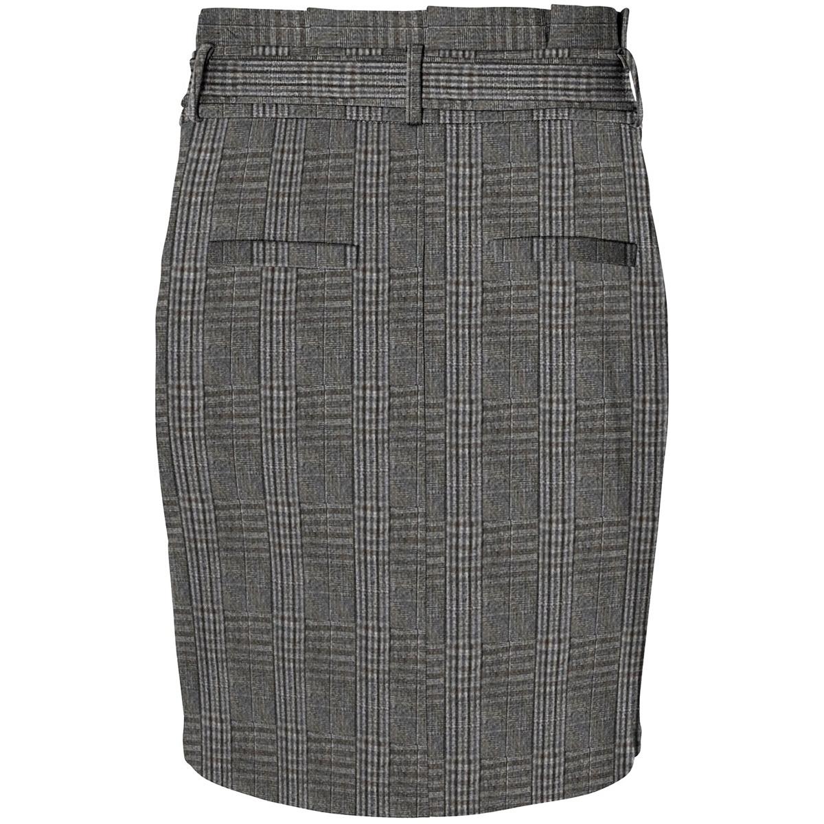 vmeva hr paperbag short check skt n 10225664 vero moda rok dark grey melan/grey