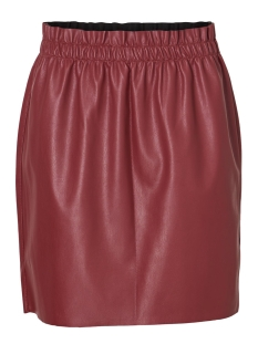 vmriley hr ruffle short skirt 10204639 vero moda rok madder brown