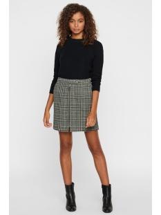 vmrebeljana hw short wool skirt 10218025 vero moda rok ponderosa pine/black/pon