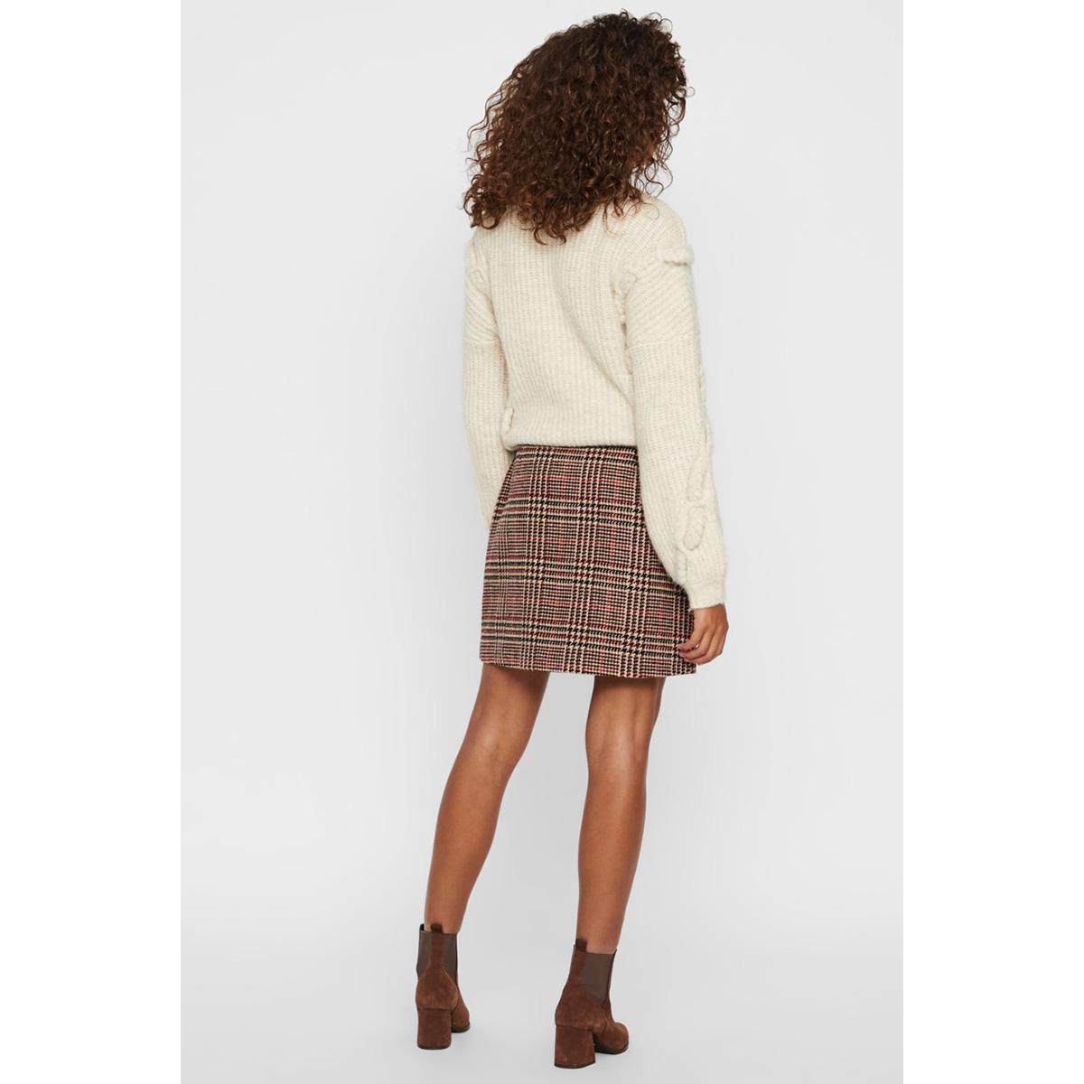 vmrebeljana hw short wool skirt 10218025 vero moda rok port royale/black/por