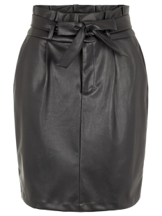 Vero Moda Rok VMEVA HR PAPERBAG SHORT SKIRT PU CO 10225811 Black