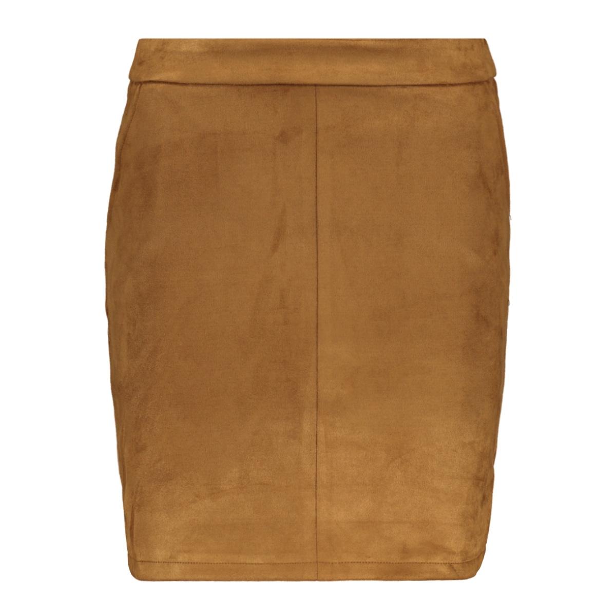 vifaddy skirt/l 14056291 vila rok toffee/fake suede