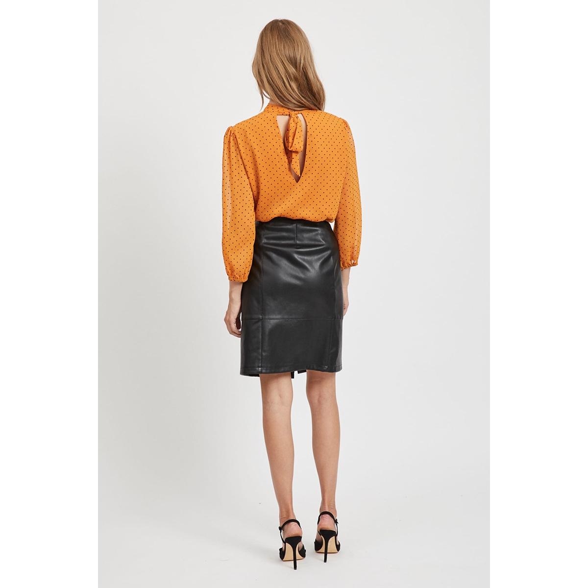 vipen button skirt/l 14056473 vila rok black