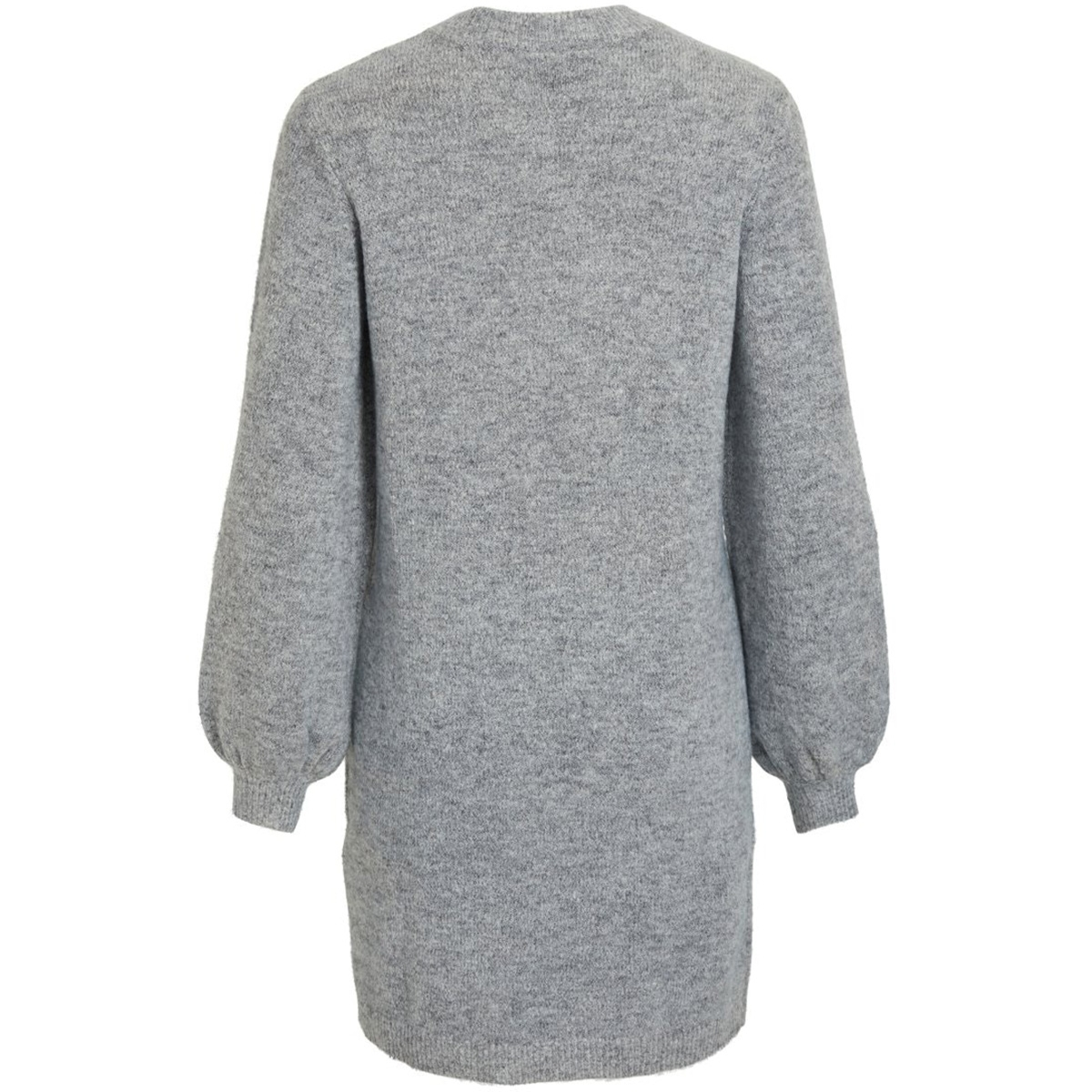 objeve nonsia l/s knit dress noos 23030170 object jurk light grey melange