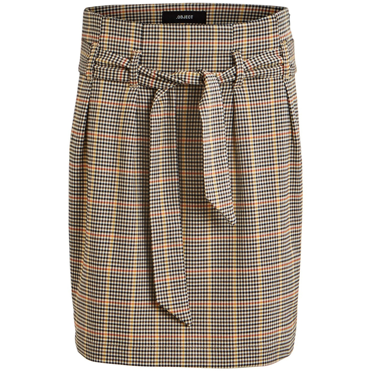 objlisa abella mini skirt seasonal 23030922 object rok brown patina/checks