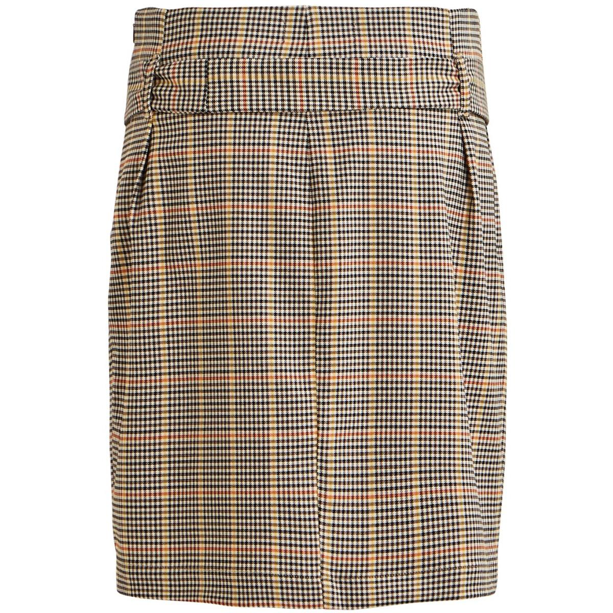 objlisa abella mini skirt seasonal 23030922 object rok brown patina/checks