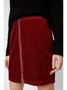 vmlola hr corduroy zipper skirt 10221362 vero moda rok madder brown