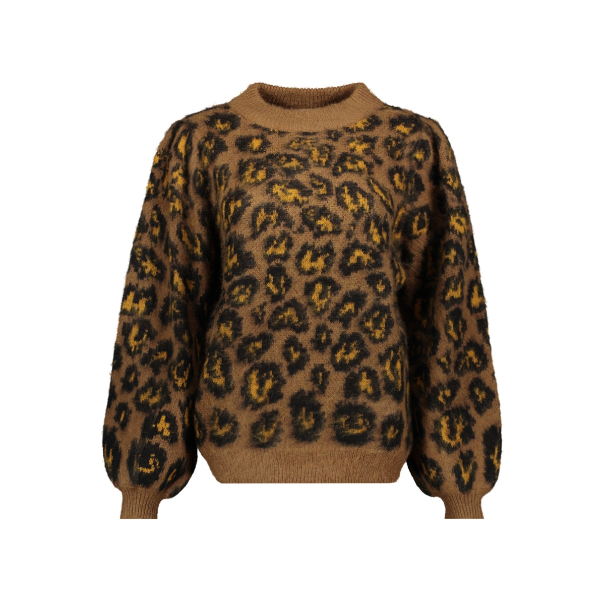 vivild knit  l/s top/l 14056112 vila trui toffee/w. golden