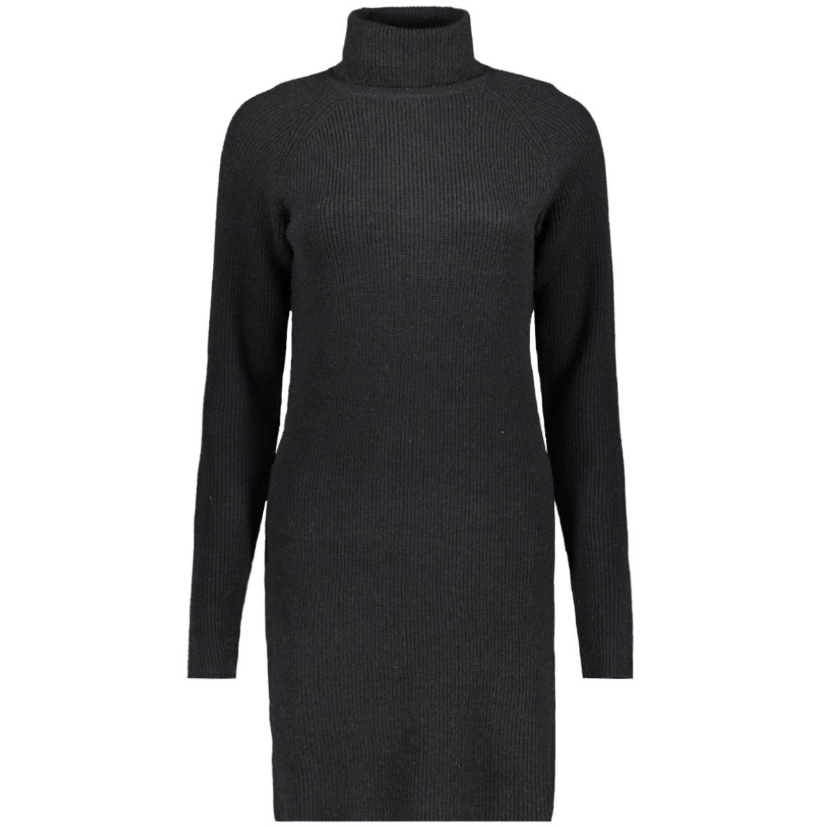 viril knit rollneck rib dress - fav 14049299 vila jurk black
