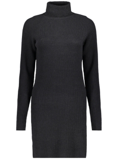 Vila Jurk VIRIL KNIT ROLLNECK RIB DRESS - FAV 14049299 Black