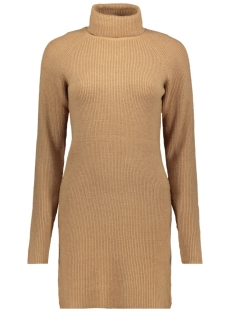 Vila Jurk VIRIL KNIT ROLLNECK RIB DRESS - FAV 14049299 Tigers Eye/MELANGE