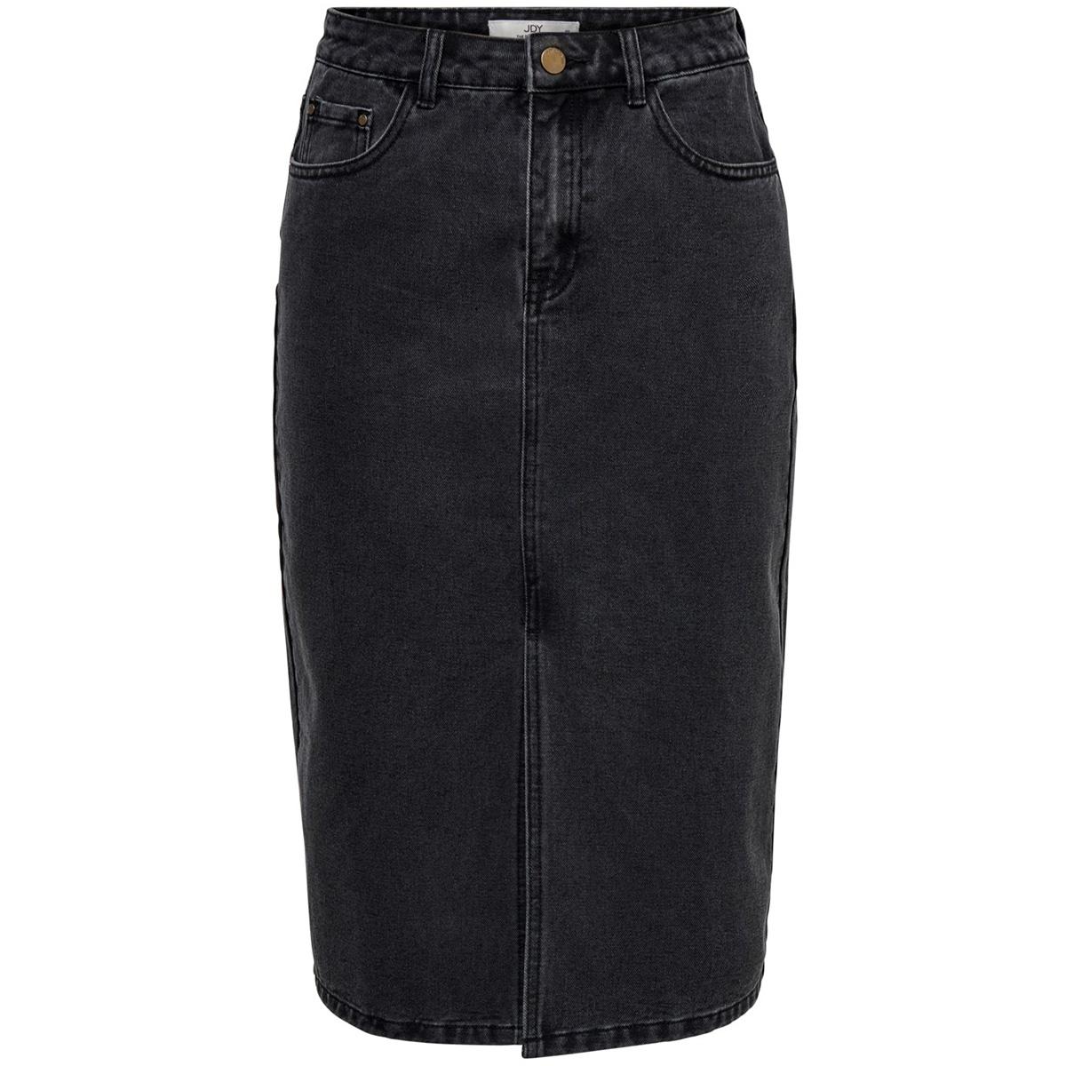 jdyjane  mid skirt black dnm 15184419 jacqueline de yong rok black denim