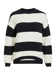 Object Trui OBJHARLOW EVELYN L/S KNIT PULLOVER 23030065 Gardenia/BLACK