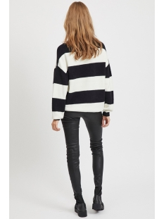 objharlow evelyn l/s knit pullover 23030065 object trui gardenia/black
