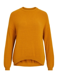 objharlow evelyn l/s knit pullover 23030065 object trui buckthorn brown