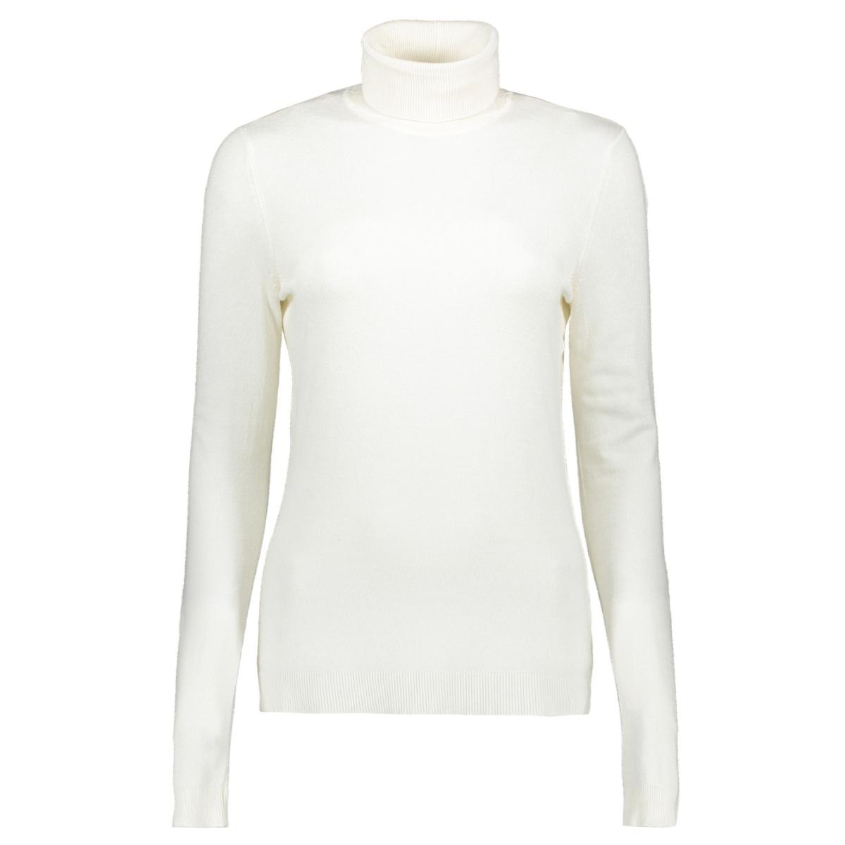 vibolonia knit l/s rollneck top-fav 14055711 vila trui whisper white