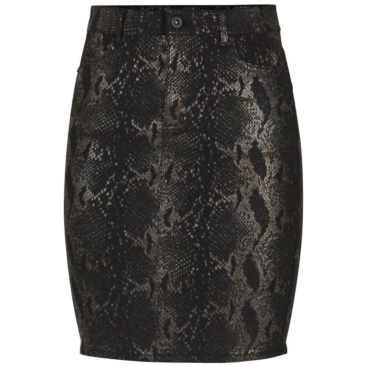 pcjacy hw foil skirt-vi 17099712 pieces rok black/snake foil