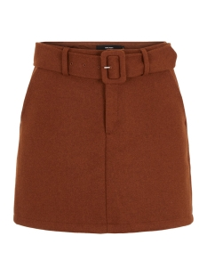 vmblaire hw short wool skirt ga 10218027 only rok cognac