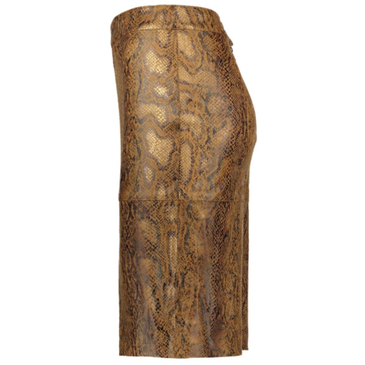 vipines snakey skirt/l 14056525 vila rok toffee/snake