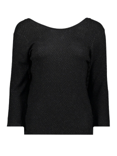 objlizzy 3/4 knit pullover 106 23030741 object trui black/black lure