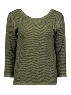 Object Trui OBJLIZZY 3/4 KNIT PULLOVER 106 23030741 Forest Night/GOLD