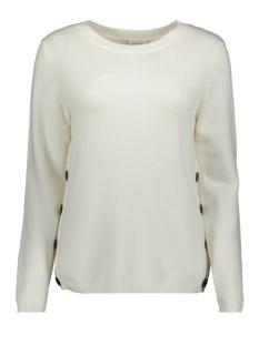 viril buttoned o-neck top - fav nx 14054560 vila trui whisper white/melange