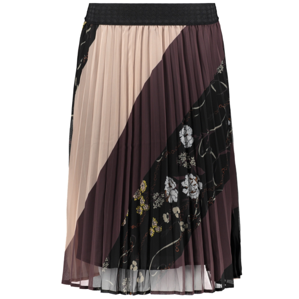 woven plisse skirt below knee u8049 30501744 saint tropez rok 0001