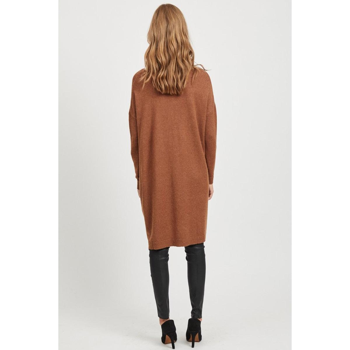 viril l/s knit tunic-fav nx 14055882 vila tuniek caramel cafe/melange