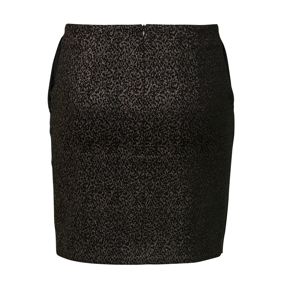 onlsimone short skirt wvn 15191135 only rok black/leo jacquard