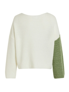 viloui knit l/s top/ki 14055430 vila trui loden frost/loden frost