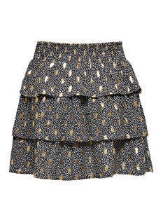 onluna layered skirt wvn 15204927 only rok black/w. dots and fo