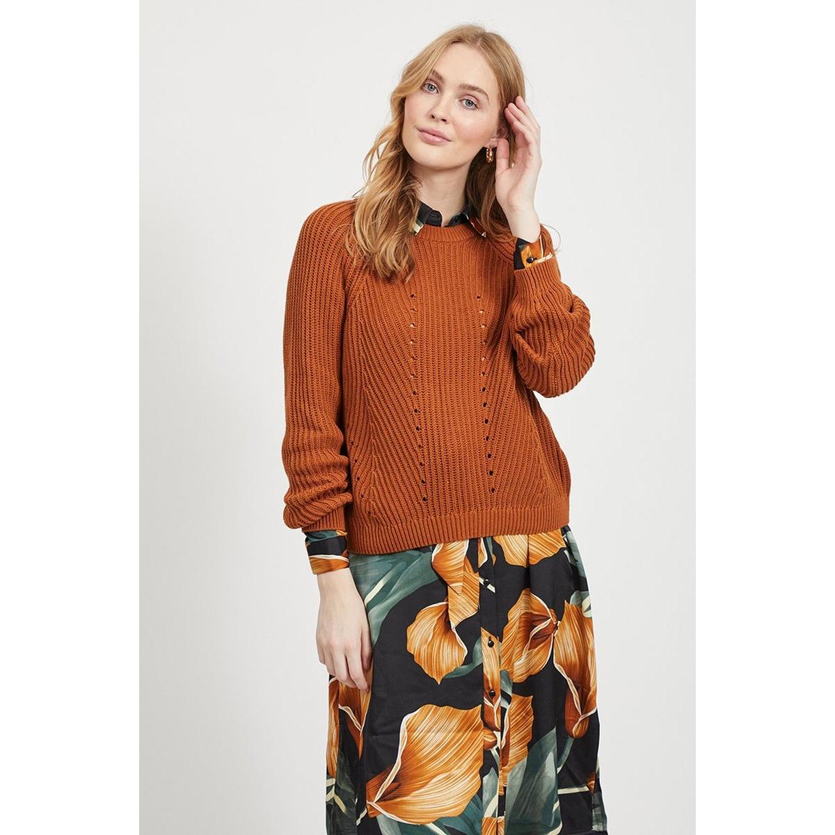 objmaya l/s knit pullover noos 23031734 object trui sugar almond