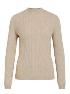Vila Trui VIANDENA KNIT FUNNEL NECK L/S TOP 14055426 Natural Melange