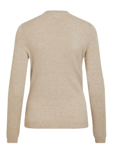 viandena knit funnel neck l/s top 14055426 vila trui natural melange