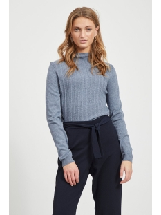 Vila Trui VIANDENA KNIT FUNNEL NECK L/S TOP 14055426 China Blue