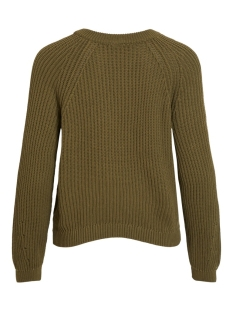 objmaya l/s knit pullover noos 23031734 object trui burnt olive