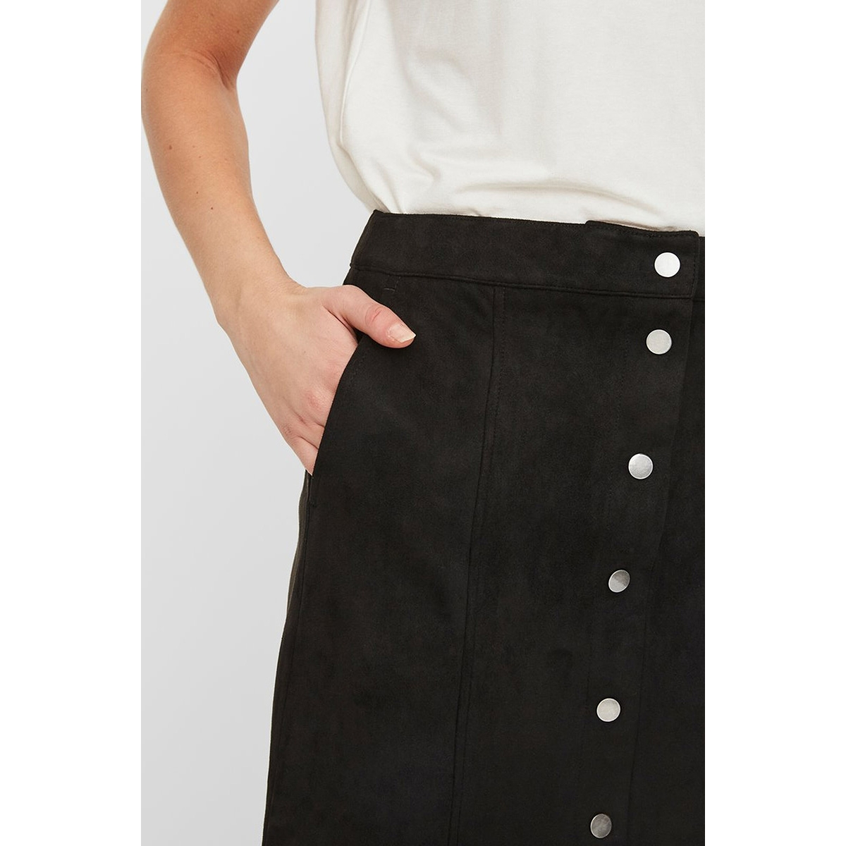 vmdonnaray fauxsuede short skirt no 10222756 vero moda rok black