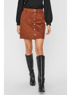 vmdonnaray fake suede short skirt 10223727 vero moda rok tortoise shell