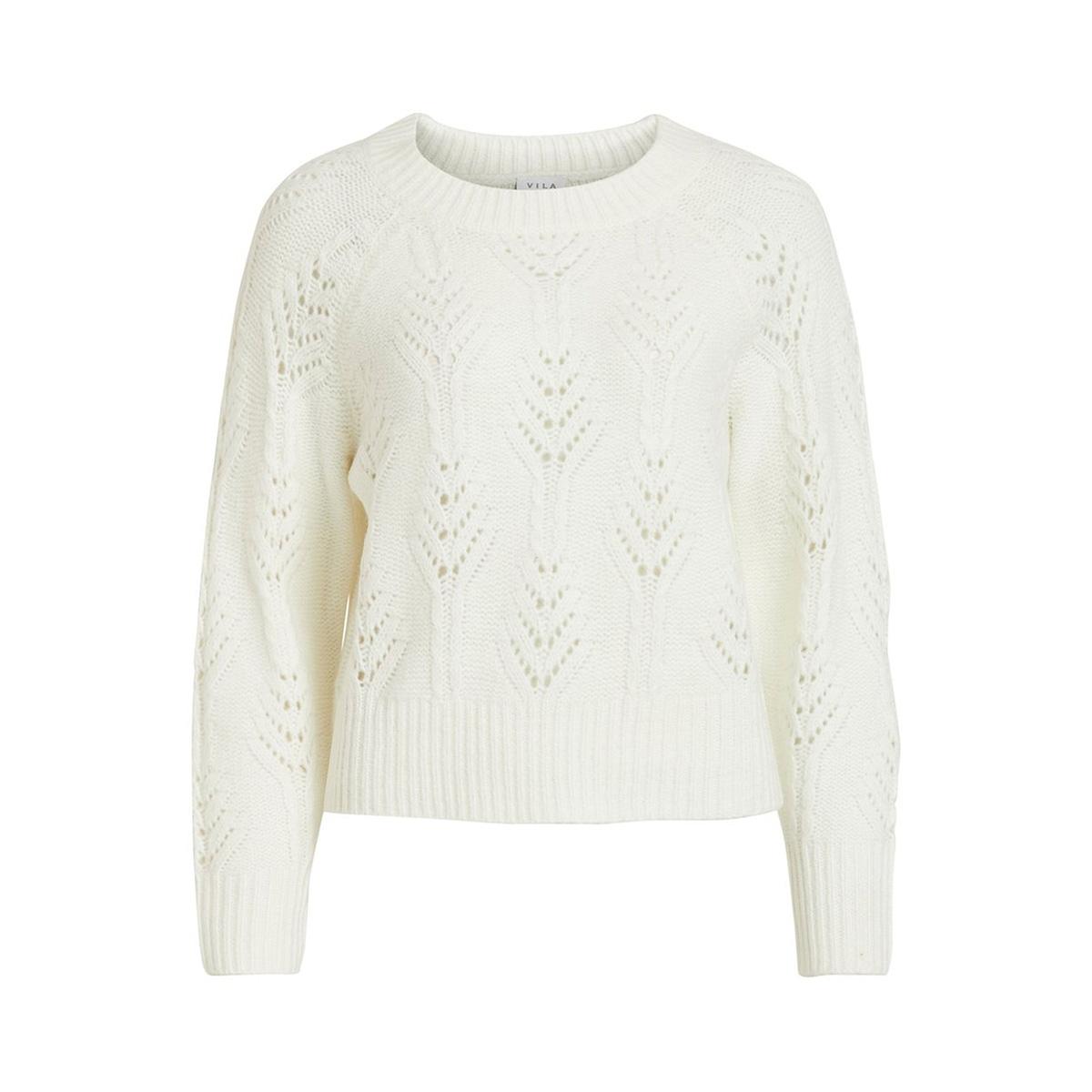 viraona knit l/s top/ki 14054813 vila trui whisper white
