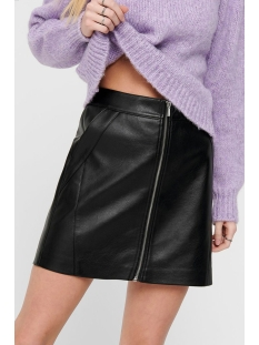 Only Rok ONLGLOW FAUX LEATHER SKIRT CC OTW 15193052 Black