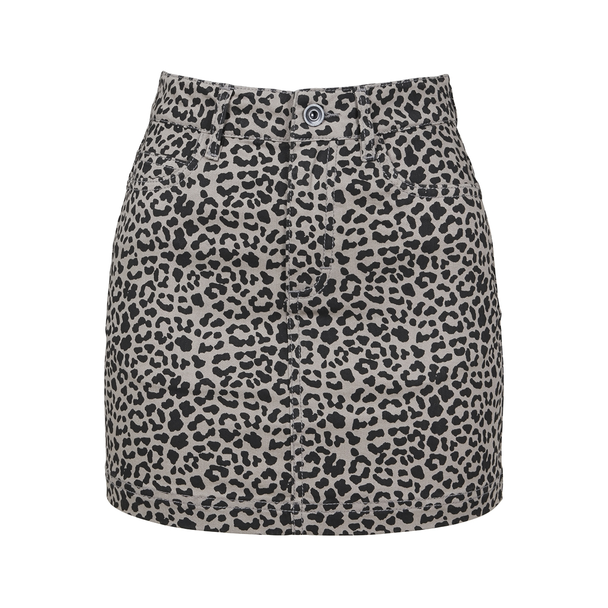 ladies twill mini skirt tb3233 urban classics rok grey leo