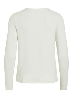 viril l/s v-neck knit top-noos 14042769 vila trui white alyssum