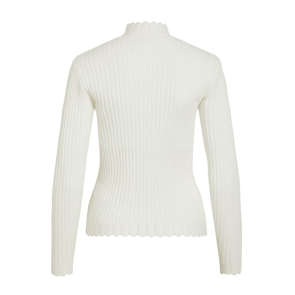 violivi knit funnel neck l/s top/ki 14055413 vila trui whisper white