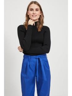 violivi knit funnel neck l/s top/ki 14055413 vila trui black