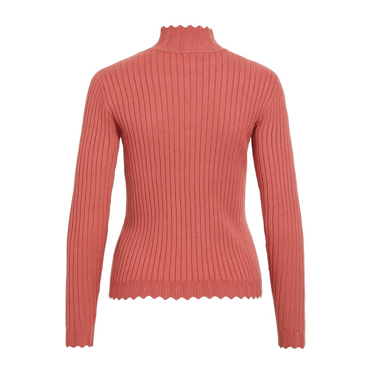violivi knit funnel neck l/s top/ki 14055413 vila trui dusty cedar