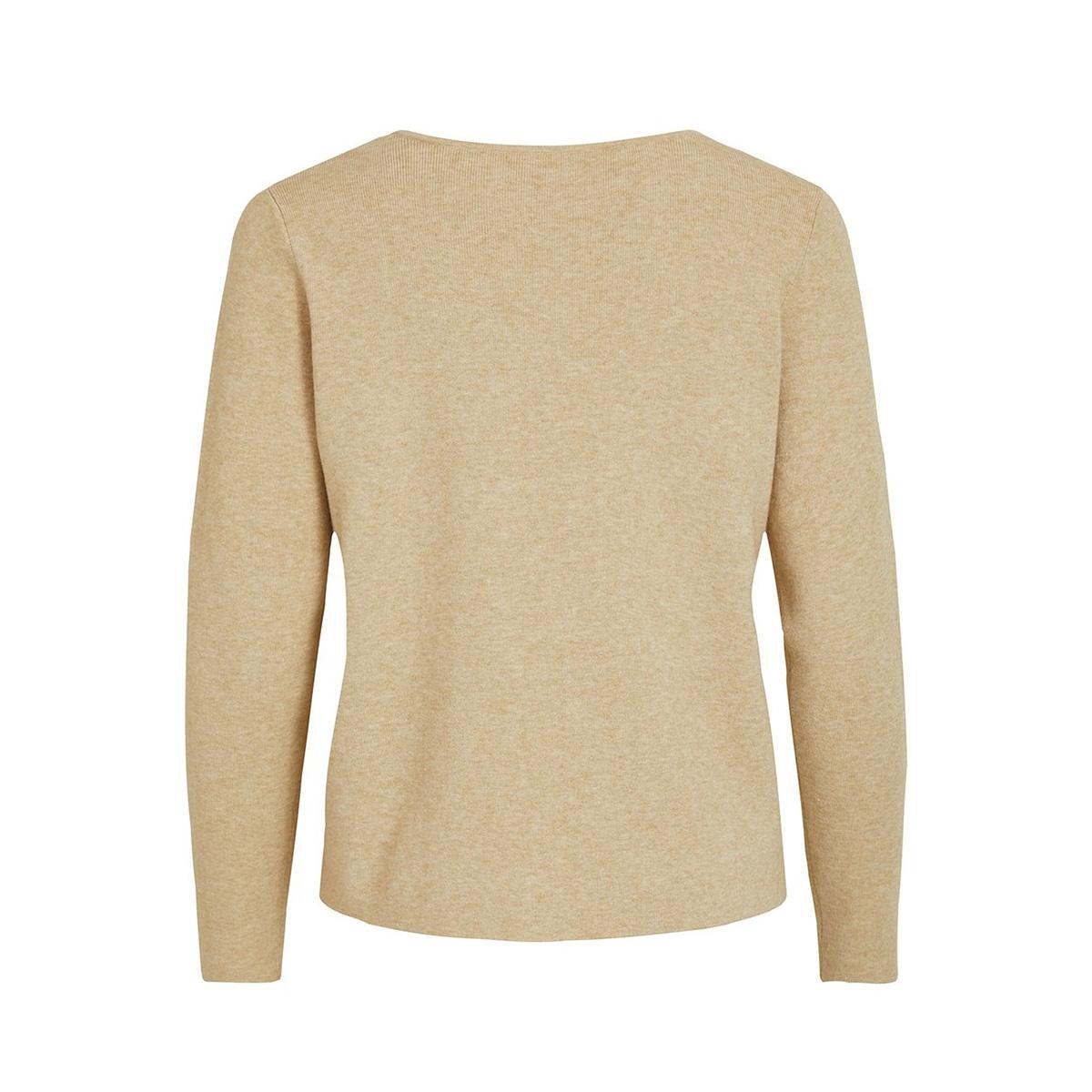 vilacal knit l/s lace up top/des 14055540 vila trui nomad
