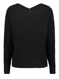 viril l/s db v-neck knit top-fav nx 14055392 vila trui black