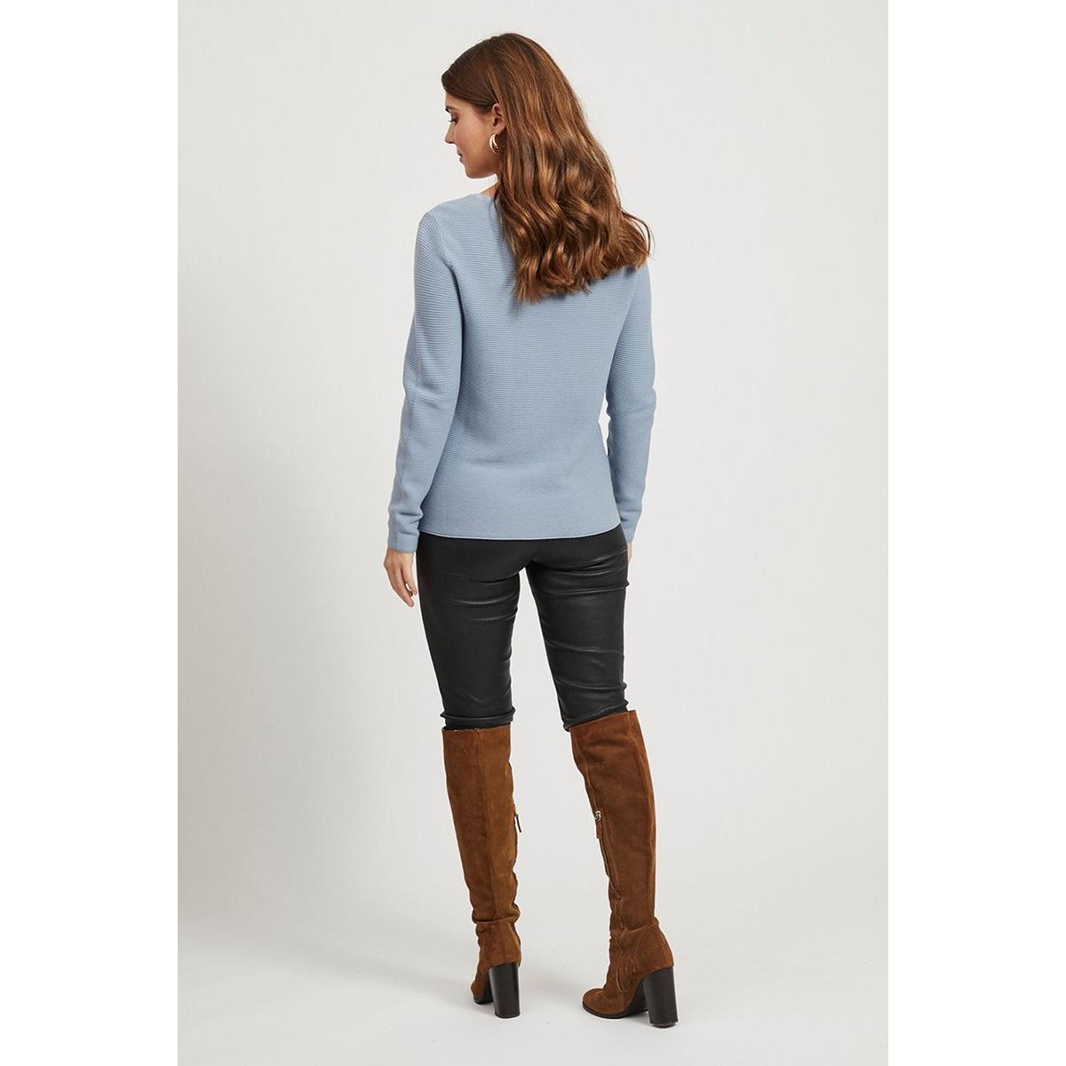 vilalaine knit l/s top- noos 14055175 vila trui ashley blue