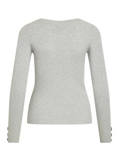 objnina l/s knit pullover pb7 23031022 object trui light grey melange